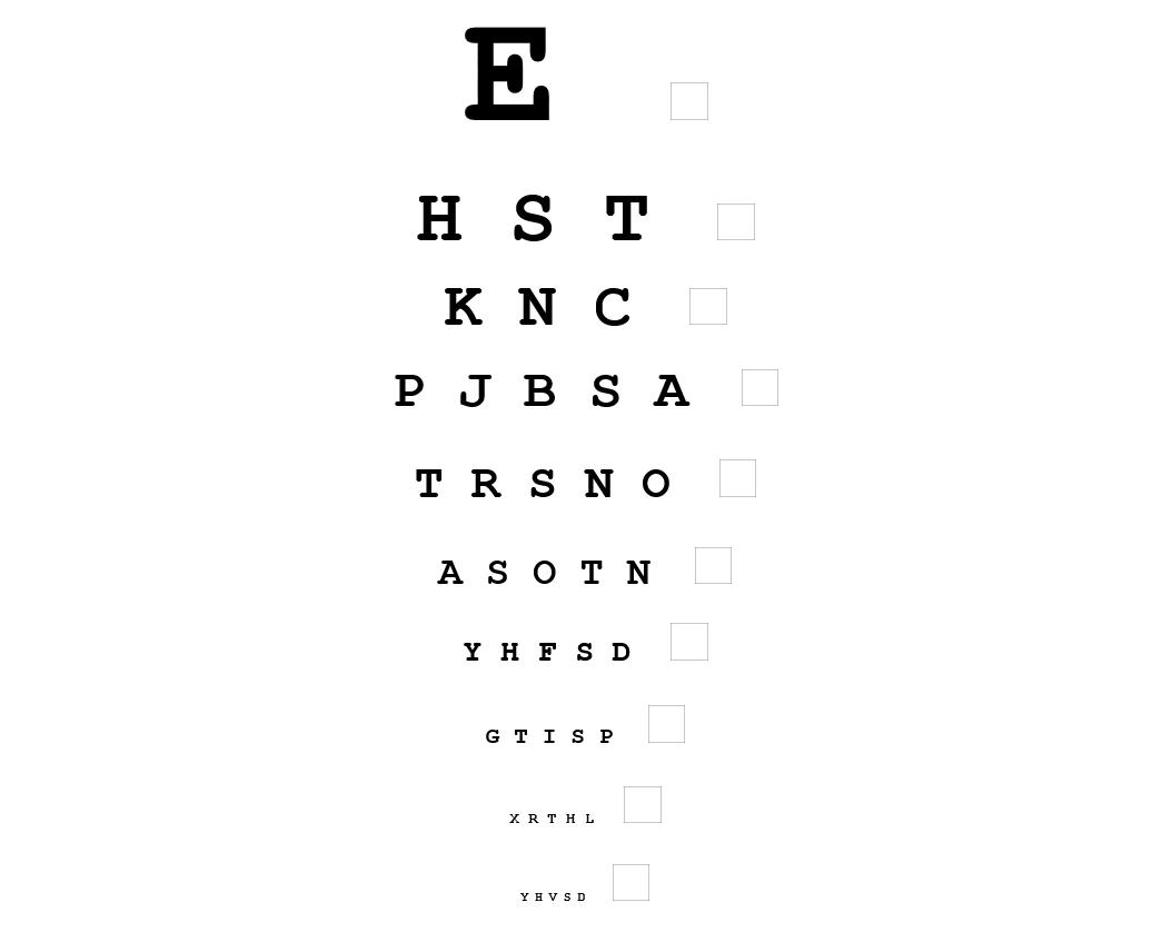 Eye Chart And Vision Test Online
