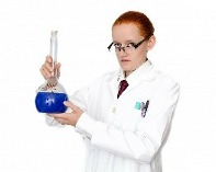 woman in a lab coat