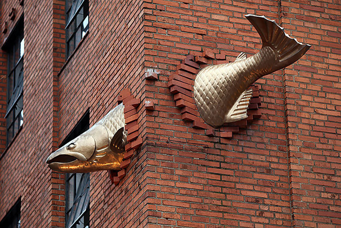 Salmon Sculpture, Portland, Oregon