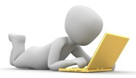 prone figure using a laptop - large version